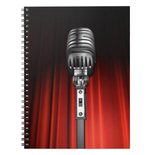 Stage Microphone Notebook