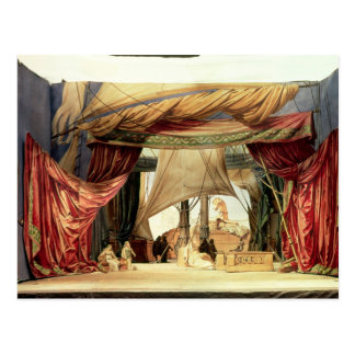 Stage model for the opera 'Tristan and Isolde' Postcard