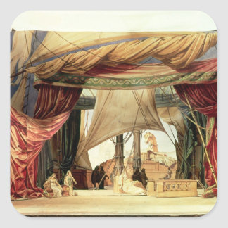 Stage model for the opera 'Tristan and Isolde' Square Sticker