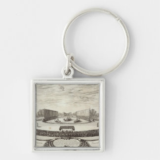 Stage on the Large Pond representing Silver-Colored Square Key Ring