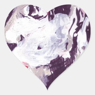 Stage performer heart sticker