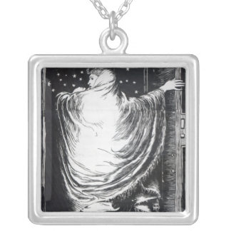Stage version of 'The Woman in White' Silver Plated Necklace