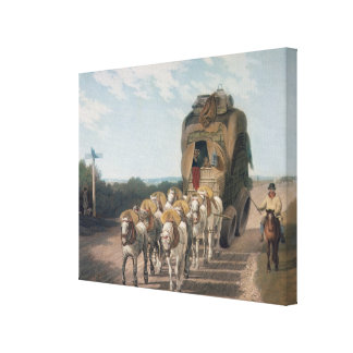 Stage Waggon, engraved by J. Baily Canvas Print