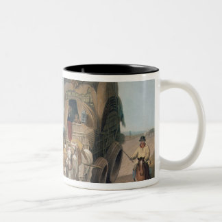 Stage Waggon, engraved by J. Baily Two-Tone Coffee Mug