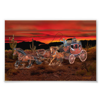 STAGECOACH COWBOYS PHOTOGRAPH