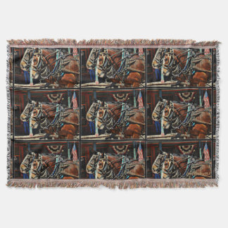 Stagecoach Horses Throw Blanket