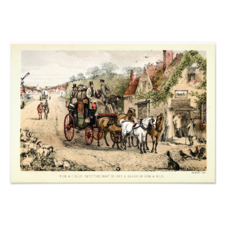 Stagecoach outside a coaching inn photograph
