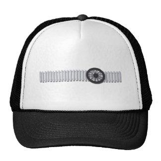 StagecoachWheelWhitePicketFence112611 Mesh Hats