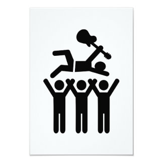 """Stagediving crowd concert 3.5"""" x 5"""" invitation card"""