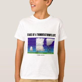 Stages Of A Thunderstorm's Life (Meteorology) T-Shirt