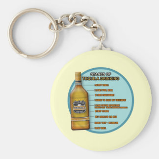 Stages of Tequila Basic Round Button Key Ring