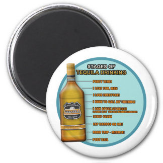 Stages of Tequila Fridge Magnet