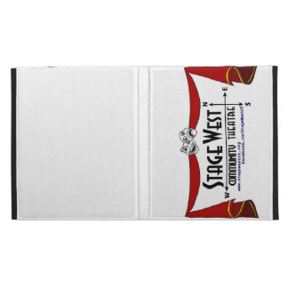 StageWest Community Theater logo with curtains iPad Folio Case