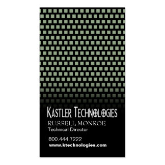 Staggered Squares Hi-Tech Technology Computer Business Card Template