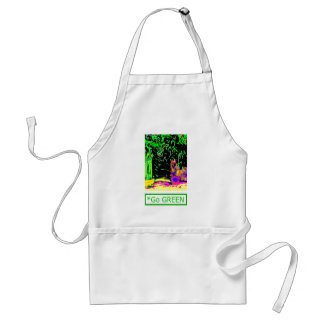 Staghorn Fern GO GREEN1a jGibney The MUSEUM Zazzle Adult Apron