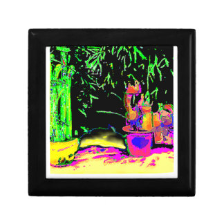 Staghorn Fern GO GREEN jGibney The MUSEUM Zazzle G Small Square Gift Box
