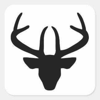 Stag's Head Square Sticker