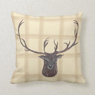 Stags Head throw cushion
