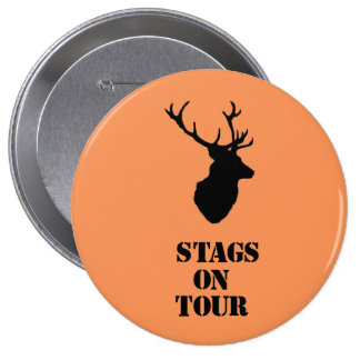 """Stags on Tour"""" badges Stag head design"""