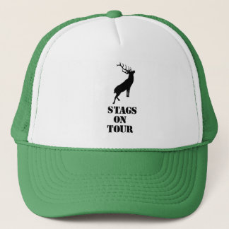 """""""Stags on Tour"""" hats. Stag design Trucker Hat"""