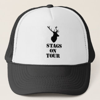"""""""Stags on Tour"""" hats. Stag head design Trucker Hat"""