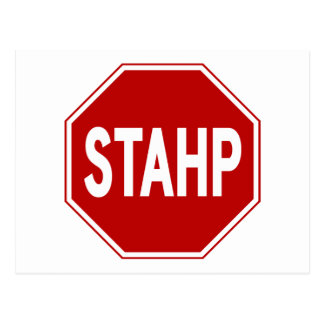 STAHP! Sign Postcard
