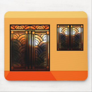 Stain Glass Art Deco Mouse Mat