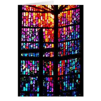 Stain Glass Cross Greeting Card