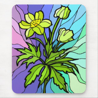Stain Glass Daisy Mousepad