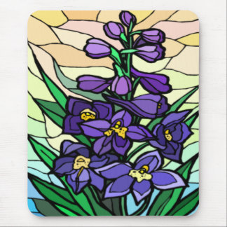Stain Glass Dendrobium  Mousepad