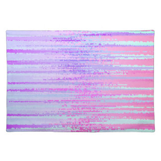 Stain Glass Effect Abstract Striped Colorful Print Place Mat