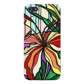 Stain Glass Lily iPhone 5 Case