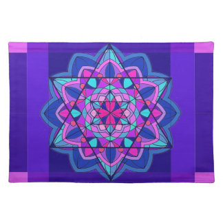 Stain Glass. The Star of David. Place Mats