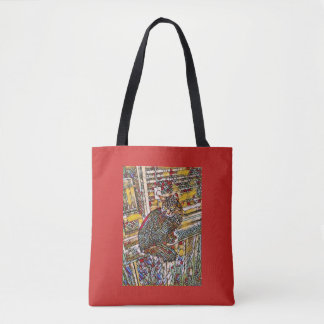 Stain Glass Window Kitty Tote Bag