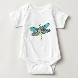 Stained Glass & Abalone Shell Dragonfly Baby Bodysuit