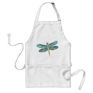 Stained Glass & Abalone Shell Dragonfly Standard Apron