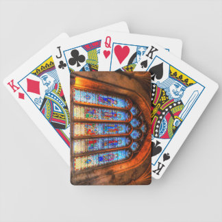 Stained Glass Abbey Window Bicycle Playing Cards