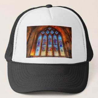 Stained Glass Abbey Window Trucker Hat
