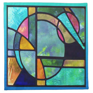 Stained Glass Abstract 1 Napkin