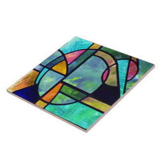 Stained Glass Abstract 1 Tile
