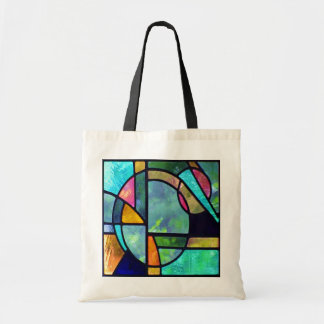 Stained Glass Abstract 1 Tote Bag
