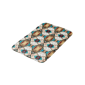 Stained Glass Abstract Art Background Bath Mat