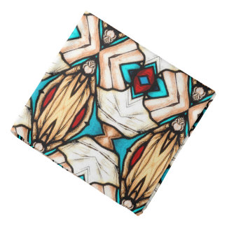 Stained Glass Abstract Art Background Do-rags