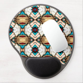 Stained Glass Abstract Art Background Gel Mouse Mat