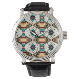 Stained Glass Abstract Art Background Watch