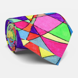 """Stained Glass"" Abstract Design Tie"