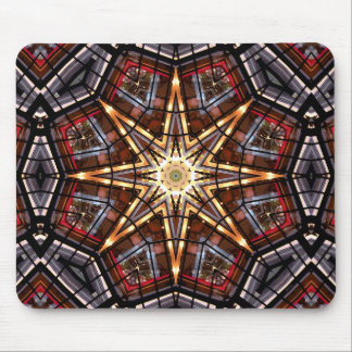 Stained Glass Abstract Mouse Pad