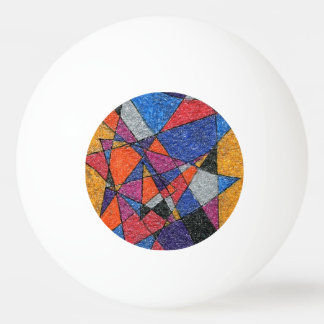 """Stained Glass"" Abstract Ping Pong Ball"