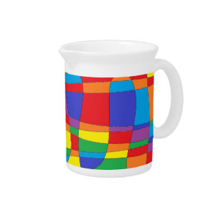 Stained Glass Abstract Pitcher