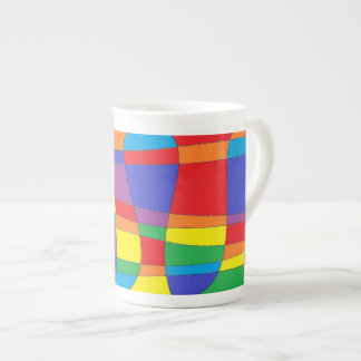 Stained Glass Abstract Porcelain Mugs